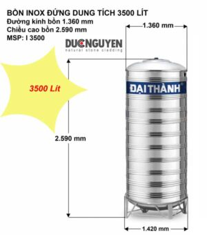 bồn nước inox 3500 lít đứng