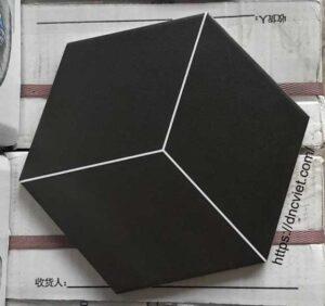 Gạch lục giác đen 20×20