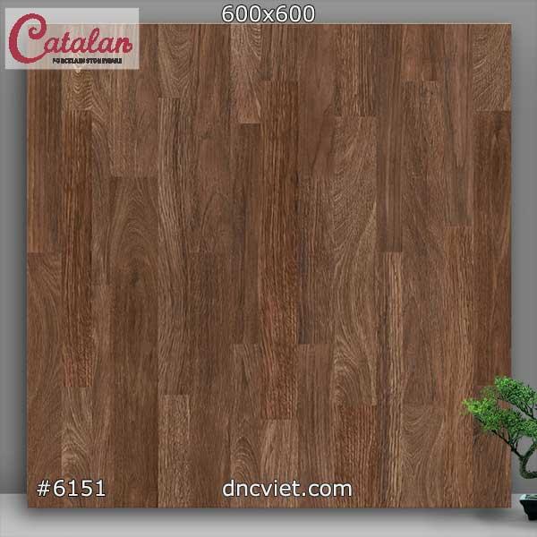 gạch giả gỗ 60x60 catalan 6151