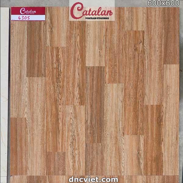 gạch giả gỗ 60x60 catalan 6305
