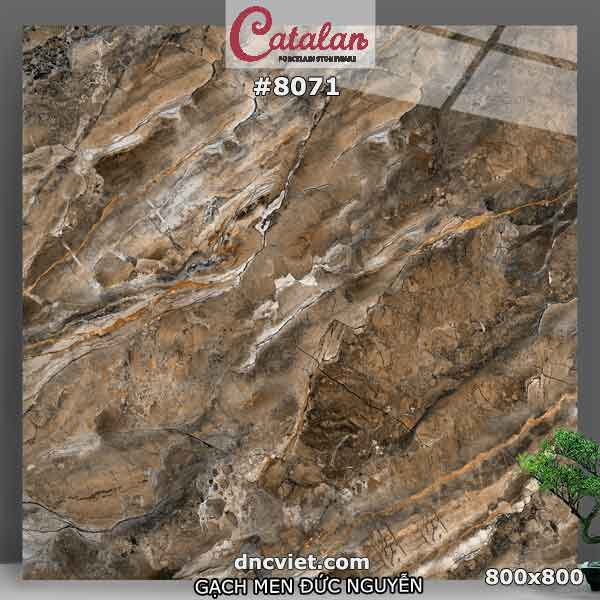 gạch vân đá màu nâu 80x80 catalan 8071