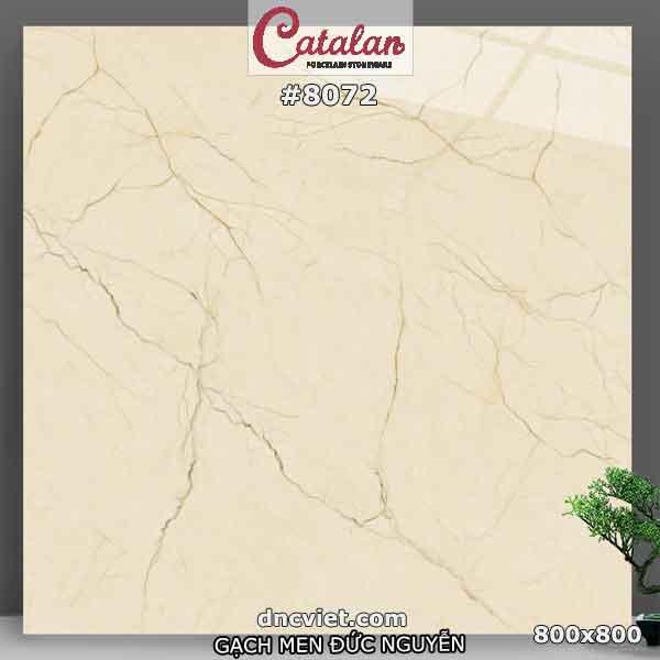 gạch nền màu kem vân marble 80x80 catalan 8071