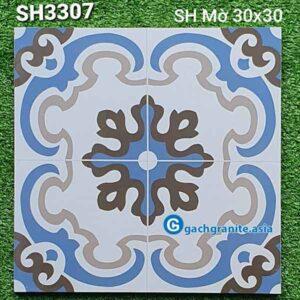 gạch bông lát nền 30x30 sh3307