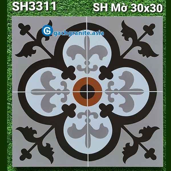 gạch hoa văn trang trí 30x30 sh3311